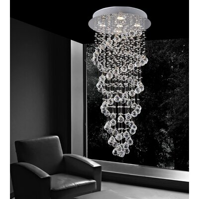 Double Spiral 5-Light Flush Mount