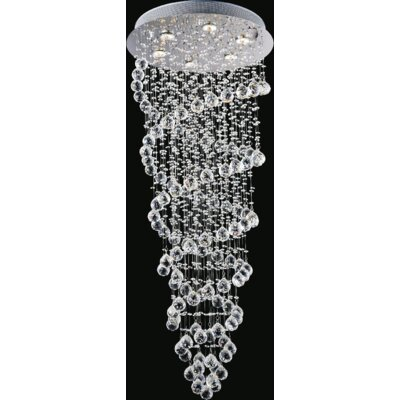 Double Spiral 6-Light Flush Mount