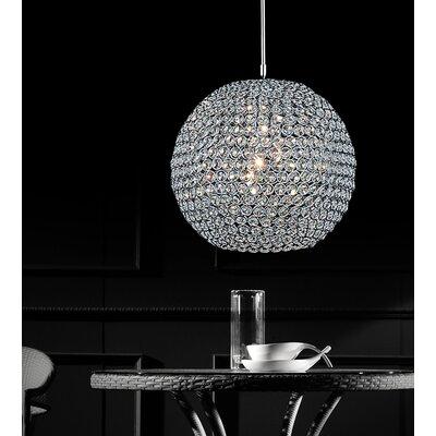 1-Light Globe Pendant Size: 11H x 12W x 12D