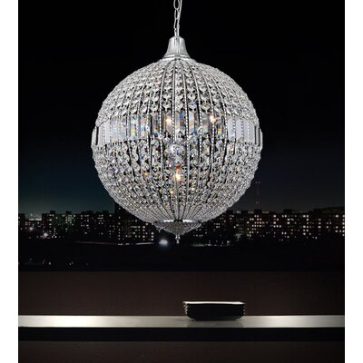 4-Light LED Globe Pendant