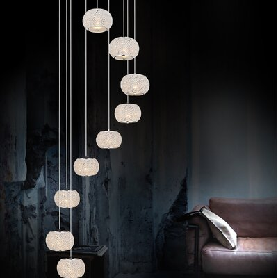 Tiffany 9-Light Crystal Chandelier