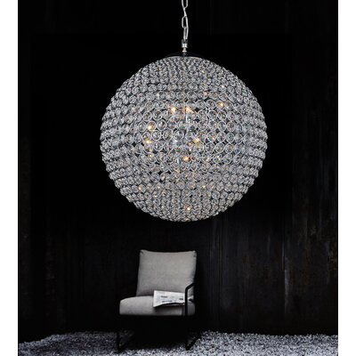 Globe 9-Light Crystal Chandelier
