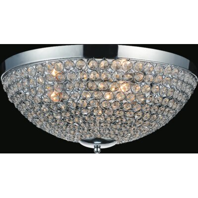 Globe 4-Light Flush Mount