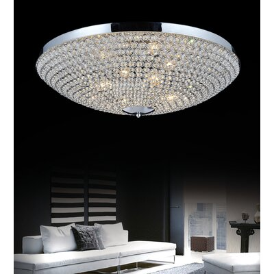 Globe 9-Light Flush Mount