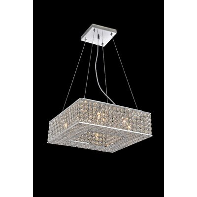 Dannie 8-Light Crystal Chandelier Size: 78 H x 14 W x 14 D