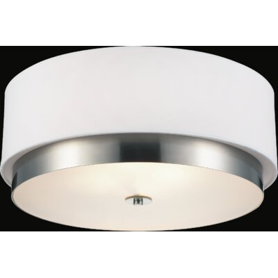 Frosted 4-Light Flush Mount