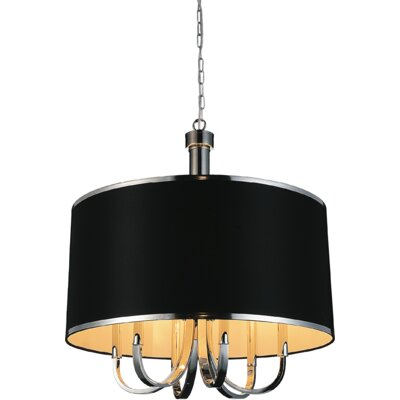 Orchid 6-Light Drum Chandelier Shade Color: Black