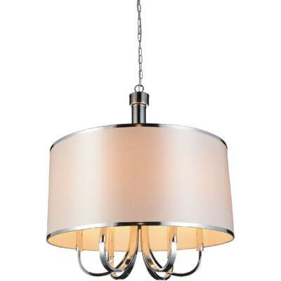 Orchid 6-Light Drum Chandelier Shade Color: White