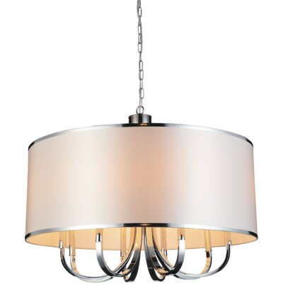 Orchid 1-Light Drum Pendant Shade Color: White