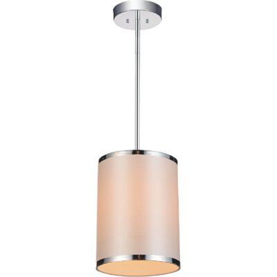 Orchid 1-Light Mini Pendant Shade Color: White