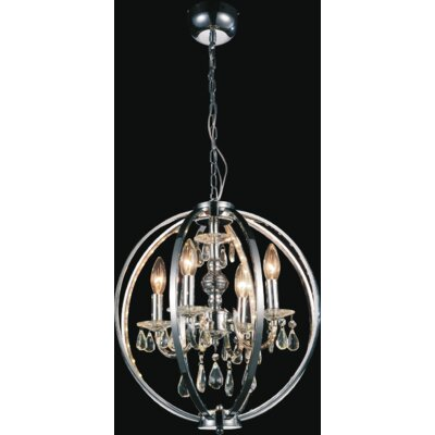 Bird Cage 4-Light Candle-Style Chandelier