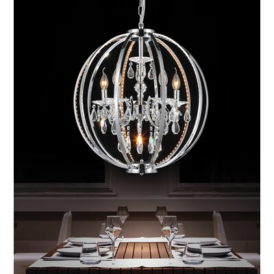 Bird Cage 5-Light Candle-Style Chandelier