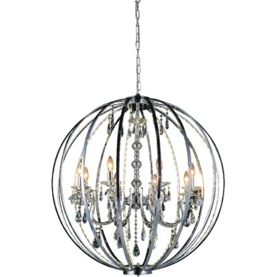 Bird Cage 8-Light Candle-Style Chandelier