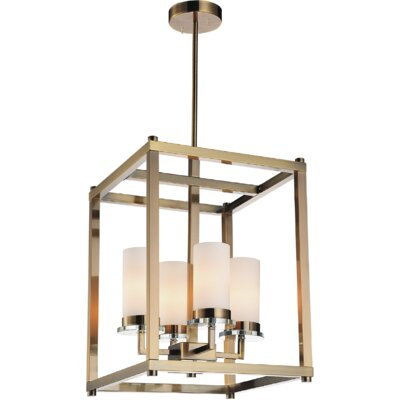 Margie 4-Light Foyer Chandelier Finish: Antique Bronze