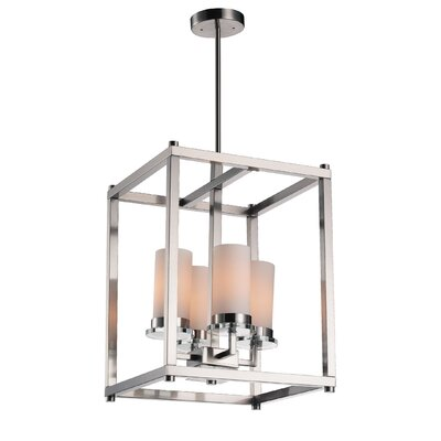 Margie 4-Light Foyer Chandelier Finish: Satin Nickel