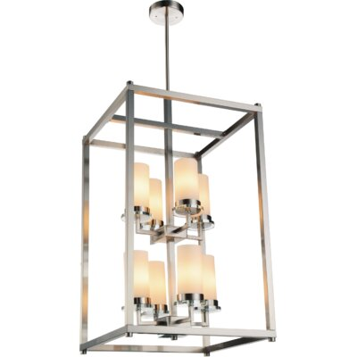 Margie 8-Light Foyer Chandelier Finish: Satin Nickel