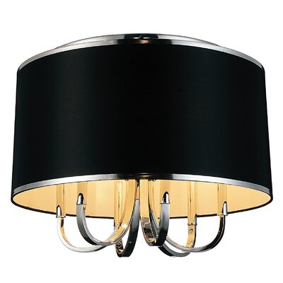 Orchid 6-Light Flush Mount Shade Color: Black