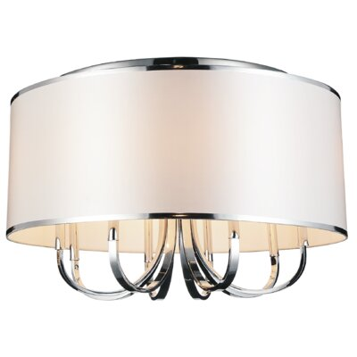 Orchid 6-Light Flush Mount Shade Color: White