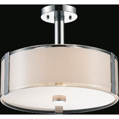 Lucie 3-Light Drum Chandelier