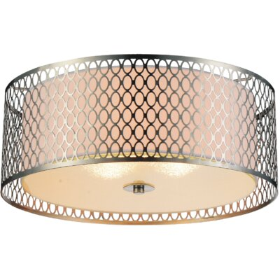 Mikayla 3-Light Flush Mount Finish: Chrome