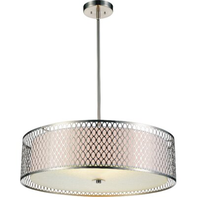Mikayla 3-Light Drum Chandelier Size: 80 H x 22 W x 22 D