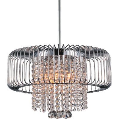 Gloria 6-Light Drum Chandelier Finish: Chrome