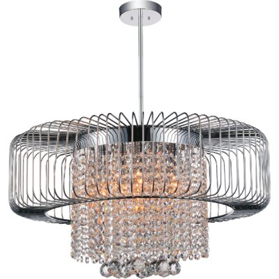 Gloria 8-Light Drum Chandelier Finish: Chrome