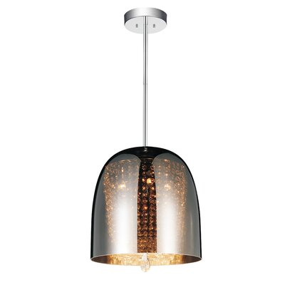 Movement 4-Light Mini Chandelier   Shade Color: Smoke
