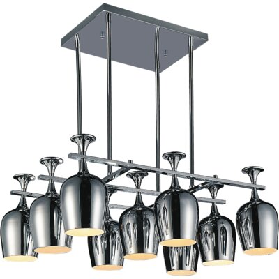 Merlot 9-Light Kitchen Island Pendant
