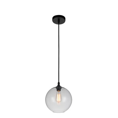 Glass 1-Light Globe Pendant Shade Color: Clear