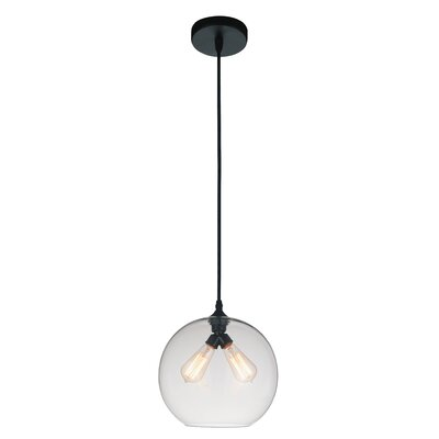 Glass 2-Light Globe Pendant Shade Color: Clear