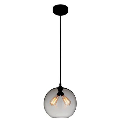 Glass 2-Light Globe Pendant Shade Color: Smoke