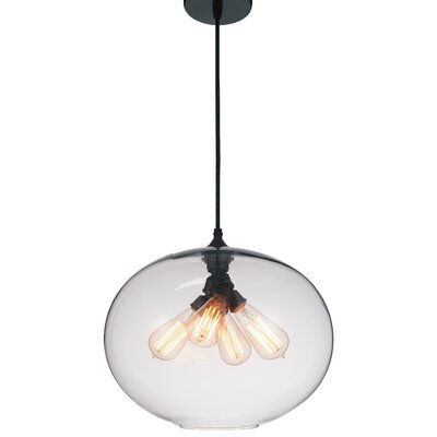 Glass 4-Light Globe Pendant Shade Color: Clear