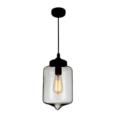 Glass 1-Light Mini Pendant Shade Color: Smoke