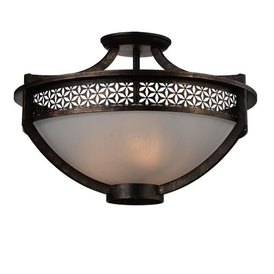 Pollett 3-Light Semi Flush Mount