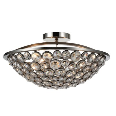 Wallula 3-Light Semi Flush Mount