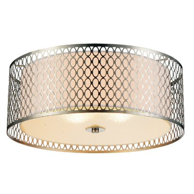 Mikayla 3-Light Flush Mount Finish: Satin Nickel