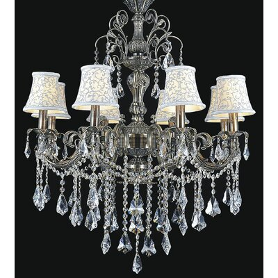 Brass 8-Light Candle-Style Chandelier