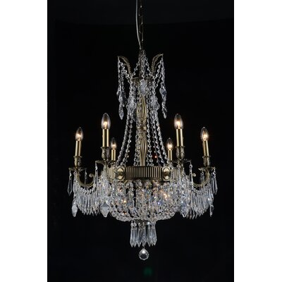Brass 9-Light Candle-Style Chandelier