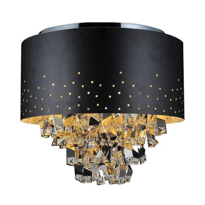 Carmella 5-Light Flush Mount Finish: Black