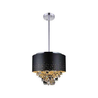 Carmella 9-Light Drum Chandelier Finish: Black