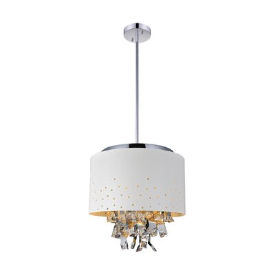 Carmella 5-Light Drum Chandelier Finish: White