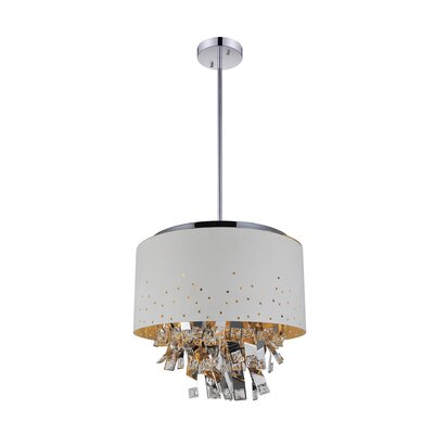 Carmella 6-Light Drum Chandelier Finish: White