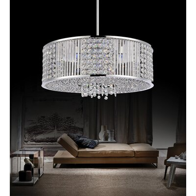 9-Light Drum Chandelier