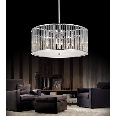 11-Light Drum Pendant Size: 82 H x 20 W x 20 D