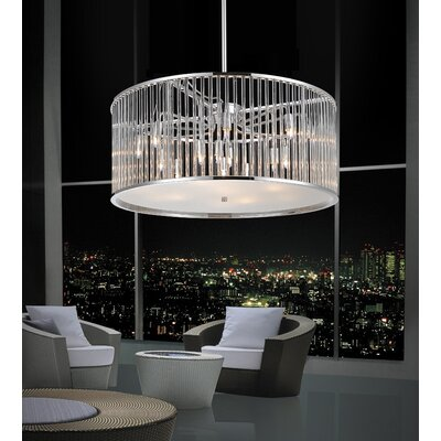 11-Light Drum Pendant Size: 82 H x 22 W x 22 D
