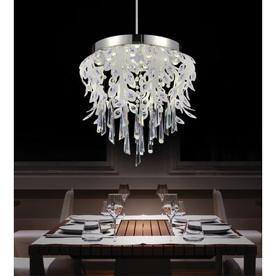 24-Light LED Crystal Chandelier