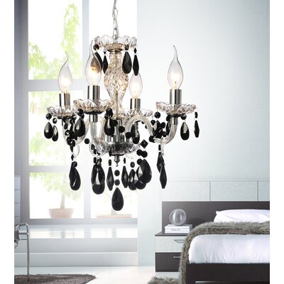 4-Light Candle-Style Chandelier