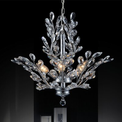 6-Light Crystal Chandelier