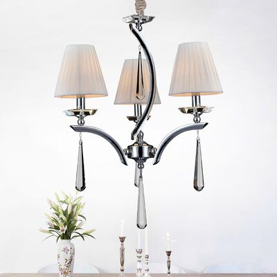 3-Light Candle-Style Chandelier
